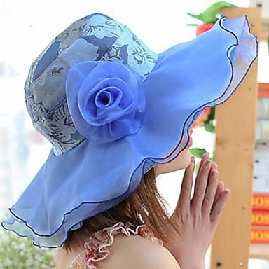 povoljno Party pokrivala za glavu-Čipka / Posteljina i pamuk Blend / Pamuk kape s Cvijet 1 komad Dnevni Nosite Glava