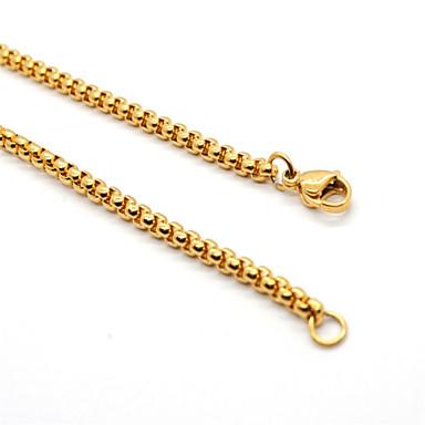 levne Pánské šperky-Pánské Dámské Řetízky Klasika Naděje umělecké Jednoduchý Moderní Módní Nerez Zlatá 60 cm Náhrdelníky Šperky 1ks Pro Dar Denní Karneval Street Klub