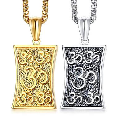 povoljno Modne ogrlice-Muškarci Ogrlice s privjeskom Klasičan Vjera Moda Titanium Steel Zlato Pink 60 cm Ogrlice Jewelry 1pc Za Dar Dnevno
