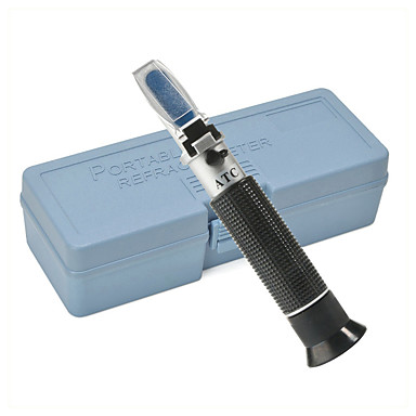 cheap Testers & Detectors-refractometer alcohol alcoholometer meter 0~80%v/v atc handheld tool hydrometer rz116 concentration spirits tester wine