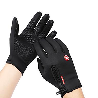 povoljno Biciklističke rukavice-Zima Biciklističke rukavice Rukavice za ekrane osjetljive na dodir Brdski biciklizam biciklom na cesti Touch Screen Vodootporno Vjetronepropusnost Ugrijati Cijeli prst Aktivnost / Sport Rukavice Runo