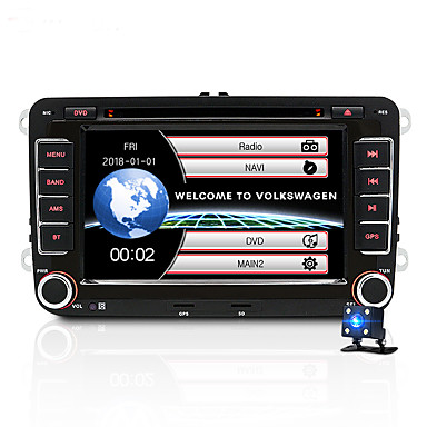 billige Bil Elektronikk-junsun 2531-s 7 tommers 2 din windows ce in-dash bil dvd-spiller / bil mp5 spiller / bil multimediaspiller gps / mp3 / innebygd bluetooth for volkswagen / skoda / setestøtte avi / wmv / asf mp3 / wma