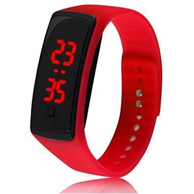 levne Pánské-Pro páry Sportovní hodinky Digitální Pryž Černá / Bílá / Červená Ne LCD Digitální Módní - Černá Červená Křišťálový Jeden rok Životnost baterie