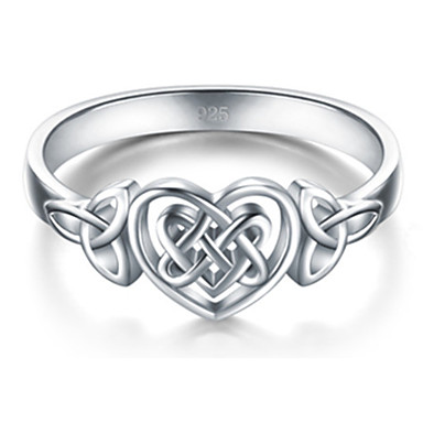 billige Motering-Dame Statement Ring Ring 1pc Hvit Kobber Geometrisk Form Stilfull Luksus Fest Gave Smykker Hjerte Kul