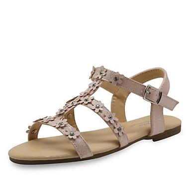 ราคาถูก Thick Soled Sandals-เด็กผู้หญิง ความสะดวกสบาย PU รองเท้าแตะ เด็กน้อย (4-7ys) / Big Kids (7 ปี +) สีชมพู ฤดูร้อน