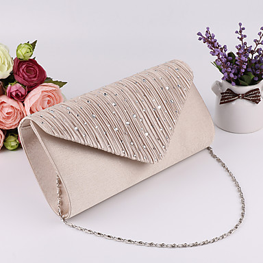cheap Clutches & Evening Bags-Women's Polyester Evening Bag Wedding Bags Black / Silver / Beige