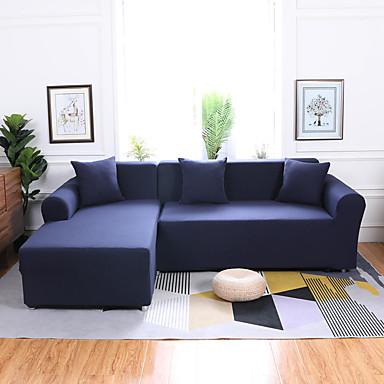 رخيصةأون غطاء-غطاء أريكة لون سادة / كلاسيكي / عصري طباعة متفاعلة بوليستر الأغلفة