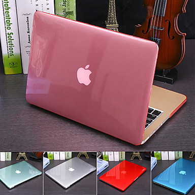 cheap Mac Accessories-Solid Colored Crystal Translucent Cover For MacBook Pro Air Retina 11/12/13/15 Inch (A1278-A1989) Plastic Hard Case