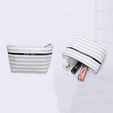 저렴한 수화물&여행가방-우레탄 PU 지퍼 기내 가방 줄무늬 일상 화이트 / 핑크 / 페일 블루 / 가을 겨울