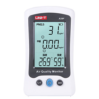 [$80 74] UNI-T A25F Desktop Dust Digital Tester Detector Monitor Sensor  PM2 5 Air Quality Monitor Temperature Humidity Meter Gas analyzer