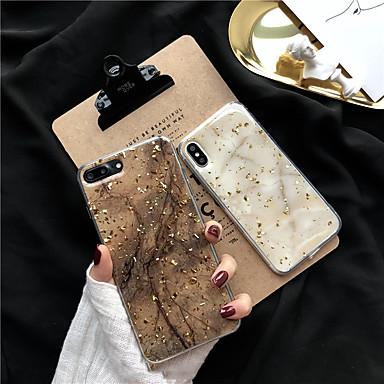 preiswerte Angebote der Woche-Hülle Für Apple iPhone X / iPhone 8 Plus / iPhone 8 Glänzender Schein Rückseite Marmor Weich TPU
