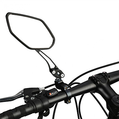 billige Sykkeltilbehør-Bakspeil Speil til sykkelstyre Justerbare Holdbar Stor baksynsvinkel Sykling motorsykkel Sykkel Aluminum Alloy PVC Svart Fjellsykkel Foldesykkel Fritidssykling