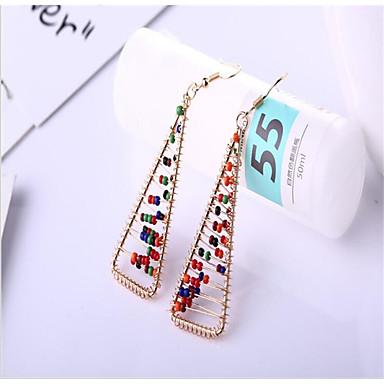 povoljno Modne naušnice-Žene Smola Viseće naušnice Geometrijski Radost Stilski Naušnice Jewelry Duga Za Dnevno Praznik 1 par