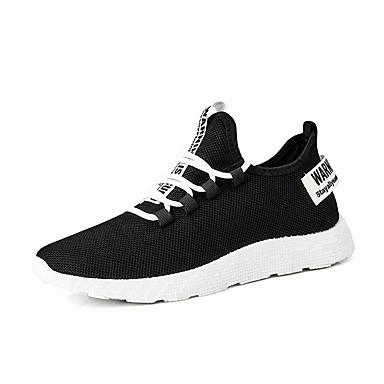 Ανδρικά Φως πέλματα Ελαστικό ύφασμα Ανοιξη καλοκαίρι Αθλητικό Αθλητικά Παπούτσια Αναπνέει Μαύρο και Άσπρο / Μαύρο / Κόκκινο / Μαύρο / Κίτρινο