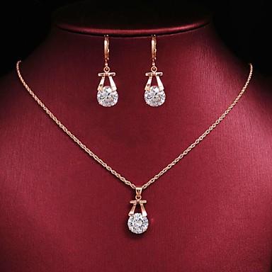 Žene Okrugle naušnice Ogrlica Vintage Style Poslastica Naušnice Jewelry Obala Za Party Dnevno 1set