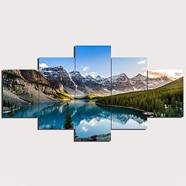 preiswerte Kunstdrucke-Druck Aufgespannte Leinwandrucke - Landschaft Traditionell Modern Fünf Panele Kunstdrucke