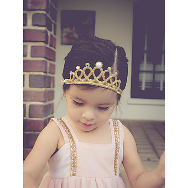 cheap Kids' Headpieces-Toddler Girls' Basic / Sweet Sun Flower Floral Floral Style Lace Hair Accessories Gold / Silver One-Size