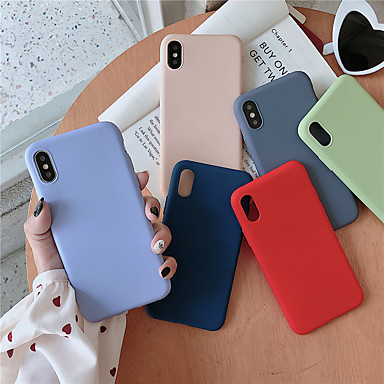 povoljno iPhone maske-kutija za Apple iphone xr / iphone xs max zamrznuta stražnja maska čvrsta boja meko tpu za iphone 6 6 plus 6s 6s plus 7 8 7 plus 8 plus x xs
