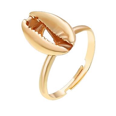 billige Motering-Dame Justerbar ring 1pc Gull Sølv Legering Rund Klassisk Gave Daglig Smykker geometriske Håp Kul