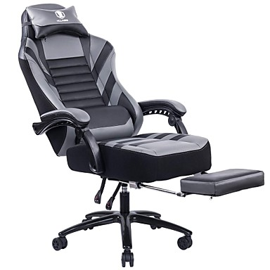Enjoyable 313 94 Killabee Big Tall 400Lb Memory Foam Reclining Gaming Chair Metal Base Adjustable Back Angle And Retractable Footrest Ergonomic High Back Pdpeps Interior Chair Design Pdpepsorg