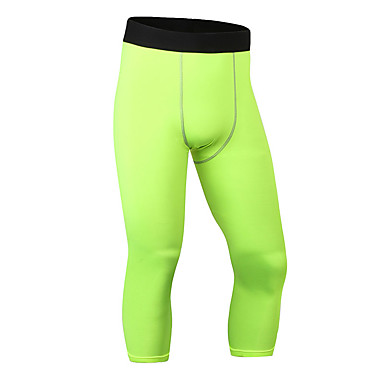 cheap Running, Jogging & Walking-YUERLIAN Men's Running Capri Leggings Running Compression Pants Athletic Base Layer Tights Leggings Sport Fitness Gym Workout Running Lightweight Breathable Quick Dry White Black Red Blue Green Gray