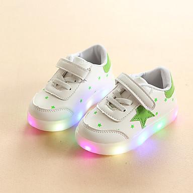 levne Dětské botičky-Dívčí Svítící boty PU Tenisky Batole (9m-4ys) / Malé děti (4-7ys) Černá / Červená / Zelená Léto / Guma