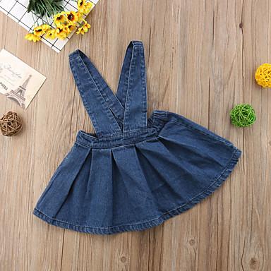 preiswerte Unterteile für Babys-Baby Mädchen Aktiv / Grundlegend Solide Rückenfrei Baumwolle Rock Marineblau