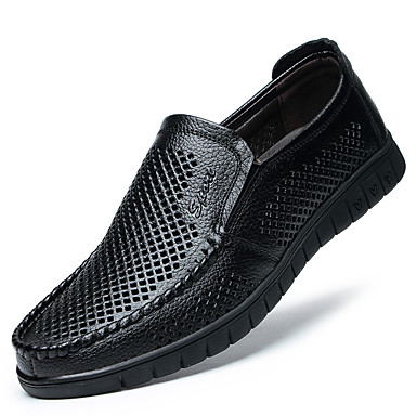 cheap Men's Slip-ons & Loafers-Men's Spring / Summer Business / Casual Daily Office & Career Loafers & Slip-Ons Nappa Leather Breathable Non-slipping Wear Proof Black / Yellow / Brown