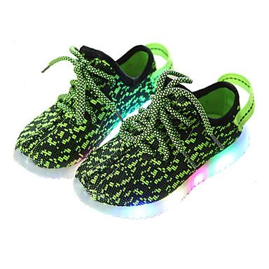 levne Dětské botičky-Dívčí Svítící boty Elastická tkanina Tenisky Batole (9m-4ys) / Malé děti (4-7ys) / Velké děti (7 let +) Červená / Zelená / Modrá Léto / Guma