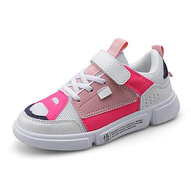 voordelige Babyschoenentjes-Jongens / Meisjes Comfortabel Netstof / PU Sneakers Peuter (9m-4ys) / Little Kids (4-7ys) / Big Kids (7jaar +) Wit / Blauw / Roze Lente / Herfst / Kleurenblok / Rubber