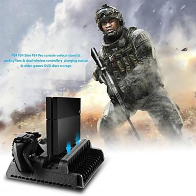 preiswerte PS4 Zubehör-ps4 series charger kits stehen dual wireless controller eingebaut 3 fans mode spiel zubehör schwarz
