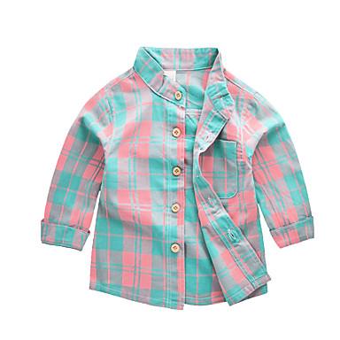 povoljno Odjeća za dječake-Djeca Dječaci Aktivan Osnovni Jednobojni Color block Dugih rukava Pamuk Majica Duga