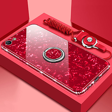cheap iPhone Cases-Rose Case For Apple iPhone 11 iPhone XR Bling Bling Mirror Back Cover iPhone Case Solid Colored Hard Tempered Glass Case for iPhone 11Pro 11ProMax XS iPhone XS Max