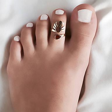 billige Motering-Dame Ring Resin 1pc Gull Sølv Legering Vintage Bohem Daglig Ferie Smykker Hul Dråpe Flower Shape Justerbar Heart