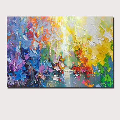 povoljno Ulja na platnu-Hang oslikana uljanim bojama Ručno oslikana - Sažetak Pejzaž Comtemporary Moderna Uključi Unutarnji okvir