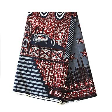 povoljno Oprema za zabavu-Pamuk Geometrijski oblici Uzorak 112 cm širina tkanina za Shirt prodan od 6Yard