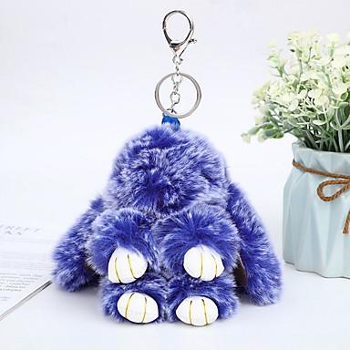 levne Dámské šperky-Klíčenka Rabbit Zvířata Na běžné nošení Módní Fashion Ring Šperky Fialová / Žlutá / Modrá Pro Denní Street