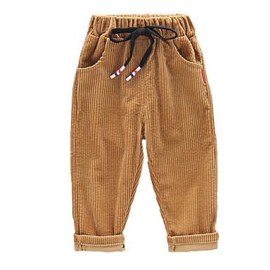 povoljno Odjeća za dječake-Djeca Dječaci Vintage Osnovni Jednobojni Vezica Pamuk Hlače Crn