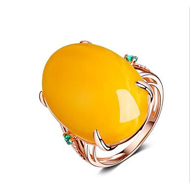 billige Motering-Dame Ring Resin 1pc Gul 18K Gullbelagt Geometrisk Form Stilfull Fest Daglig Smykker Klassisk Glede Kul