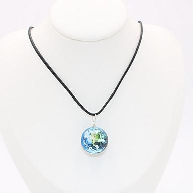levne Pánské šperky-Pánské Dámské Náhrdelníky s přívěšky Náhrdelník Charm náhrdelník Klasika Mini Lahůdka Jedinečný design Moderní Módní Pryskyřice Chrome Světle modrá Světle zelená Černá / Bílá 45 cm Náhrdelníky Šperky