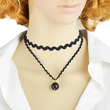 povoljno Modne ogrlice-Žene Tattoo choker Posude Moda Moderna Žica Obala Crn 30 cm Ogrlice Jewelry 1pc Za Dnevno Rad Festival