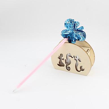 preiswerte Schreibwaren-kunststoff / doppelseitige pailletten schmetterling blau bleistiftmine kugelschreiber handwerk geschenke für kinder lernen büromaterial