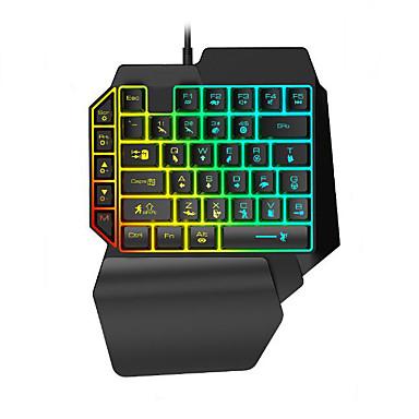 preiswerte Fantastische Spielgeräte-LITBest K15 USB verkabelt Gaming-Tastatur Mini Spielen Multi farbige Hintergrundbeleuchtung 35 pcs Schlüssel