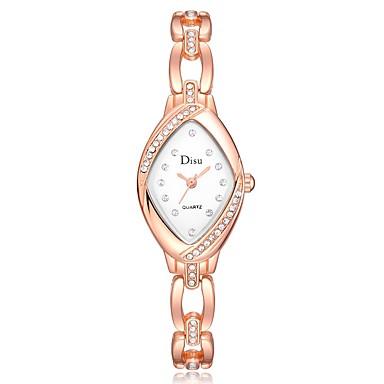 저렴한 정사각형 및 직사각형 시계-여성용 석영 캐쥬얼 패션 실버 로즈 골드 합금 중국어 석영 로즈 골드 화이트 실버 귀여운 창조적 캐쥬얼 시계 1개 아날로그 / 큰 다이얼