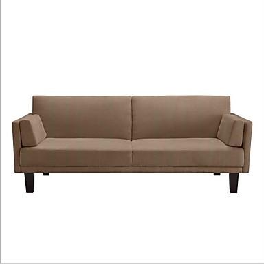 Enjoyable 495 59 Modern Tan Microfiber Upholstered Futon Style Sleeper Sofa Bed Evergreenethics Interior Chair Design Evergreenethicsorg