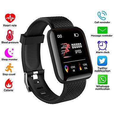 levne Pánské-Pánské Digitální hodinky Digitální Silikon Černá / Modrá / Tyrkysová 50 m Voděodolné Bluetooth Smart Digitální Outdoor Módní - Černá Červená Modrá Jeden rok Životnost baterie / LCD / Stopky