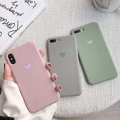 povoljno iPhone maske-kutija za Apple iPhone xr / iphone xs max uzorak natrag poklopac srce meko tpu za iphone x xs 8 8plus 7 7plus 6 6s 6plus 6s plus