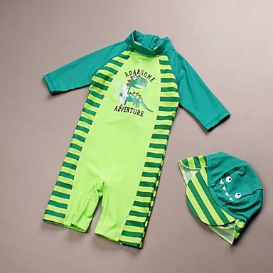 preiswerte Badebekleidung für Jungen-Kinder Jungen Gestreift Baumwolle Bademode Grün