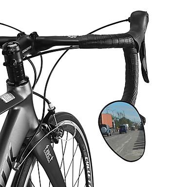 billige Sykkeltilbehør-Bakspeil Sykkelspeil til styret Justerbare Holdbar Enkel å installere Sykling motorsykkel Sykkel PVC Svart Fjellsykkel Foldesykkel Fritidssykling