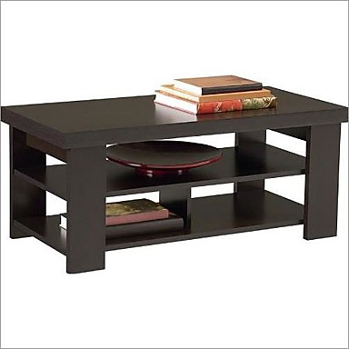 248 84 Modern Coffee Table In Dark Brown Black Forest Finish